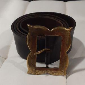 DG brown leather belt size L